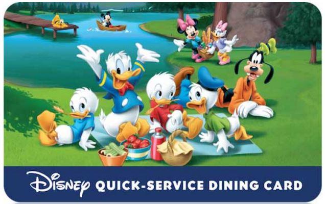 Disney Quick Service Dining Card